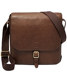 Fossil Men's Buckner Leather City Bag