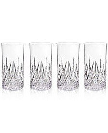 Aurora Clear Highball Tumblers, Set of 4