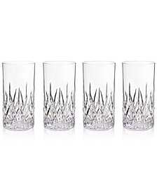 Q Squared Aurora Clear Highball Tumblers, Set of 4