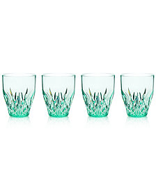 Q Squared Aurora Seaglass Stemless Wine Glasses, Set of 4