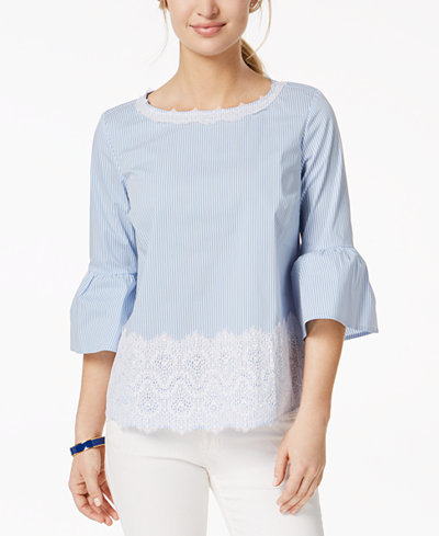 Charter Club Bell-Sleeve Top, Created for Macy's