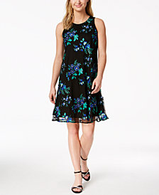 Charter Club Petite Embroidered Dress, Created for Macy's