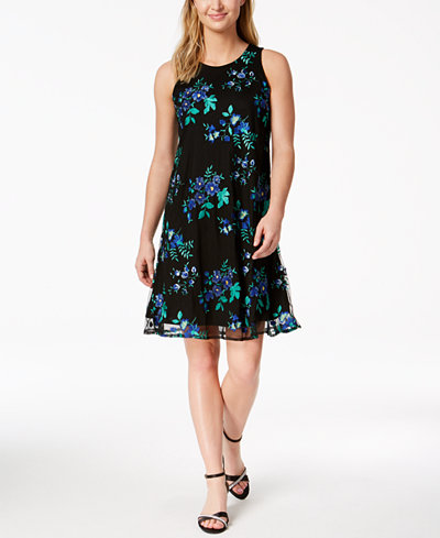 Charter Club Embroidered Swing Dress, Created for Macy's