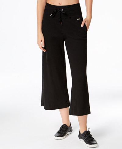 Calvin Klein Performance Thermal Wide-Leg Cropped Pants