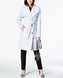 Calvin Klein Wing-Collar Trench Coat