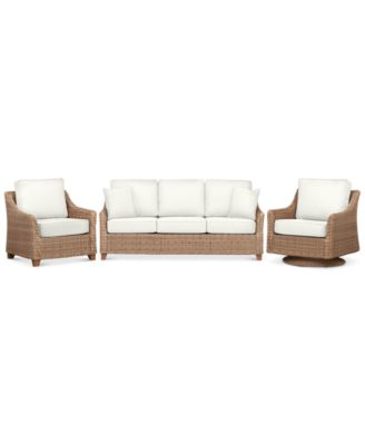 Willough Outdoor 3-Pc. Set (1 Sofa, 1 Club Chair, & 1 Swivel Glider), Created for Macy's