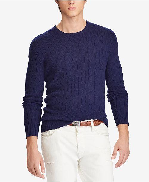 8c42ac0e104d Polo Ralph Lauren Men s Cable-Knit Cashmere Sweater   Reviews ...