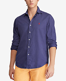 Polo Ralph Lauren Men's Slim Fit Garment Dyed Chino Shirt