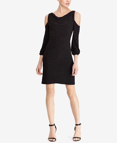 American Living Bell-Sleeve Cold-Shoulder Dress