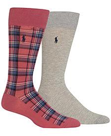 Polo Ralph Lauren Men's 2 Pack Crew Socks