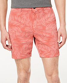 "Michael Kors Men's Classic-Fit Stretch Floral-Print 7"" Shorts"