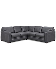 """Avenell 2-Pc. Leather """"L""""-Shaped Sectional Sofa, Created for Macy's"""
