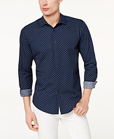I.N.C. Men's Seersucker Dot Shirt, Created for Macy's