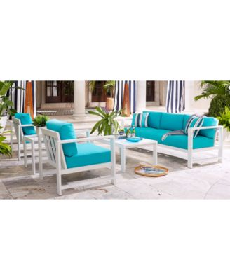 CLOSEOUT! Aruba Blue Outdoor Seating Collection with Sunbrella® Cushions Created for Macyu0027s  sc 1 st  Macyu0027s & Clearance/Closeout Outdoor Furniture - Macyu0027s