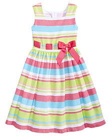 Bonnie Jean Striped Linen Dress, Big Girls