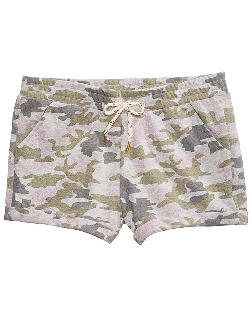 Epic Threads Camouflage Shorts, Big Girls, Created for Macy's