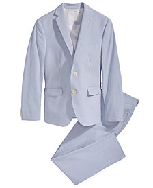 Lauren Ralph Lauren Seersucker Suit Jacket & Pants Separates, Big Boys