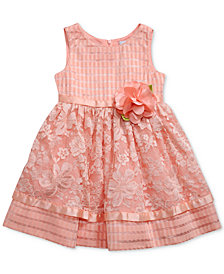 Sweet Heart Rose Lace Overlay Dress, Toddler Girls