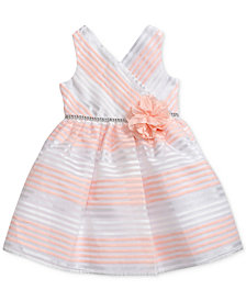 Sweet Heart Rose Striped Dress, Little Girls