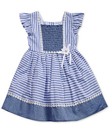 Sweet Heart Rose Striped Smocked Dress, Little Girls