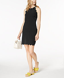 Maison Jules Scallop-Trim Halter Dress, Created for Macy's