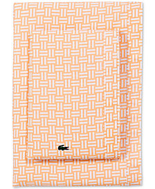 Lacoste Printed Cotton Percale Twin XL Sheet Set