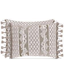 """J Queen New York Bel Air Sand Boudoir 20"""" x 12"""" Decorative Pillow"""