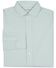 Calvin Klein Big Boys Check-Print Button-Front Dress Shirt