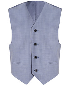 Calvin Klein Striated Sharkskin Vest, Big Boys