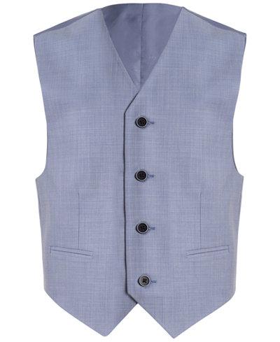 Calvin Klein Striated Sharkskin Vest, Big Boys