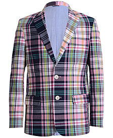 Tommy Hilfiger Plaid Blazer, Big Boys