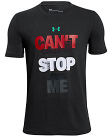Under Armour Graphic-Print Charged Cotton® T-Shirt, Big Boys