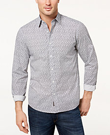 Michael Kors Men's Hendrix Check Printed Shirt