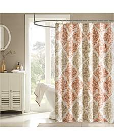"Claire 72"" x 72"" Floral Diamond-Print Shower Curtain"