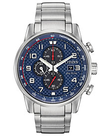 Citizen Eco-Drive Men's Chronograph Primo Stainless Steel Bracelet Watch 45mm