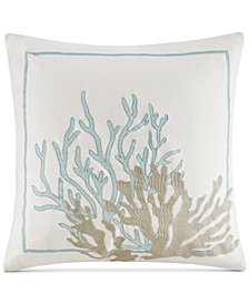 "Harbor House Cannon Beach 18"" x 18"" Embroidered Square Decorative Pillow"