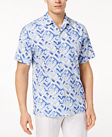 Tommy Bahama Men's Geo Lounge Silk Shirt, Created for Macy's