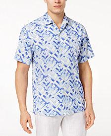 Tommy Bahama Men's Geo Lounge Silk Shirt, Created for Macy's