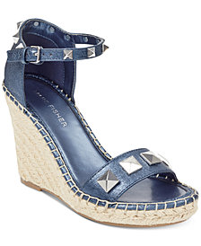 Marc Fisher Knoll Studded Wedge Sandals