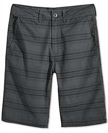 Univibe Bening Stripe Cotton Shorts, Big Boys