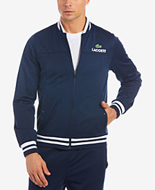 Lacoste Men's Piqué Full-Zip Tennis Track Jacket, Created for Macy's