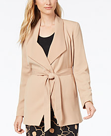 Nine West Tie-Front Trench Blazer