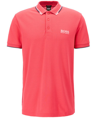 BOSS Men's Regular/Classic-Fit Moisture Manager Stretch Polo