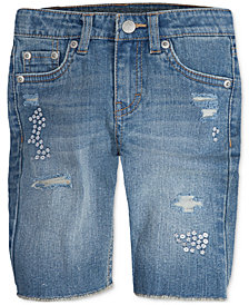 Levi's® Sequin Seaside Bermuda Shorts, Little Girls