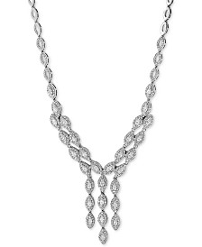 "EFFY® Diamond 17"" Collar Necklace (3-9/10 ct. t.w.) in 14k White Gold"