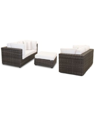 Viewport Outdoor 5-PC Loveseat Modular Seating Set (2 Loveseats, and 1 Ottoman) with Sunbrella® Cushions, Created for Macy's