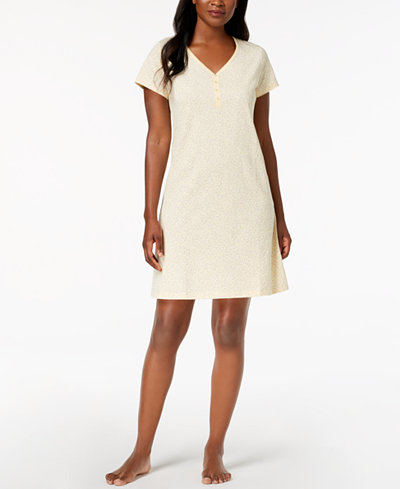 Charter Club Picot-Trim Cotton Sleepshirt, Created for Macy's