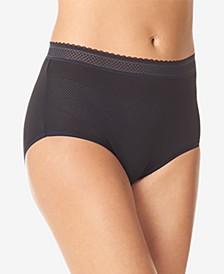 Breathable Embroidered-Trim Brief Underwear RS4901P