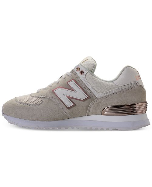 0ad474b1681d ... New Balance Women s 574 Rose Gold Casual Sneakers from Finish Line ...