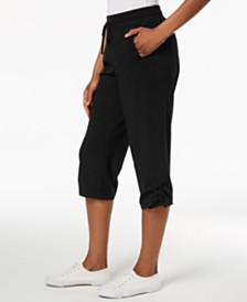Style & Co Ruched Capri Jogger Pants, Created for Macy's